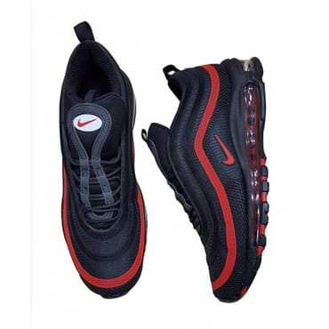 NIKE AIR MAX 97 BLACK RED,Sneakers