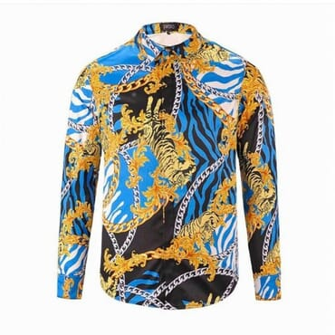 Mens Lion Inspired ,Silk Shirt,