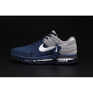 Nike Air Max 2017 Black Running Trainers-Blue & Grey,Sneakers,