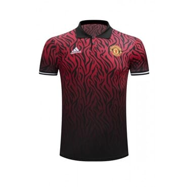 MANCHESTER UNITED 2017/2018 POLO,| RED & BLACK