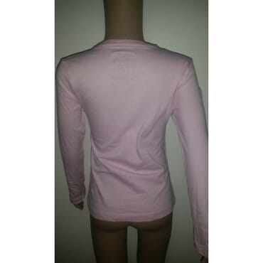 Girl's Pink Long Sleeved T Shirt Tops with US Motif