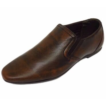Red Tape Boy's Leather Loafers - Brown