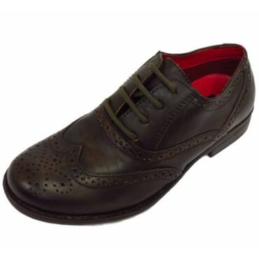 Red Tape Boys Leather Formal Shoe - Brown