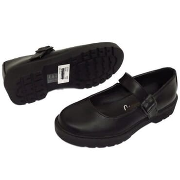 Lilley Girl's Buckle School Shoe - Black