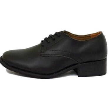 Boy's Leather Oxford Shoe - Black