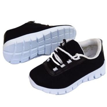 Boy's Lace-up Trainers - Black