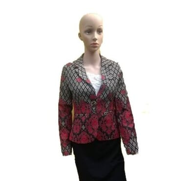 Mixed Flowery Print Blazer- Red