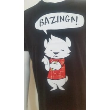 A&S Bazinga Men's Tee-Shirt - Black