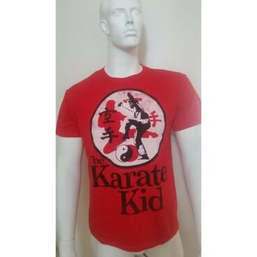 Karate Kid Men's Tee Shirt- Red
