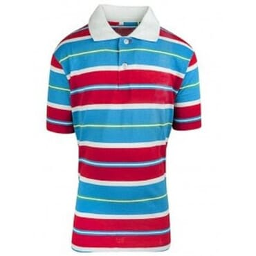 Boys Striped P.Q Polo Shirt