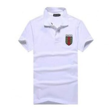 Gucc-Whitei Logo Badge ,Polo,