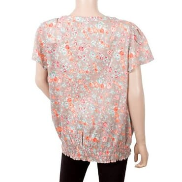 M&S Ladies Elasticated Waist Floral Top