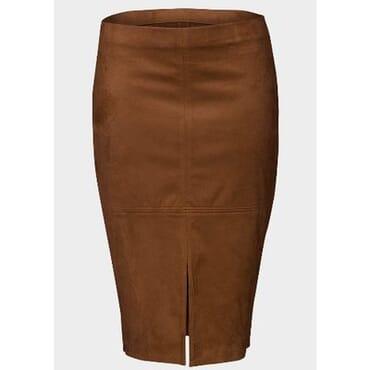 Atmosphere Suedette Front Slit Pencil Skirt