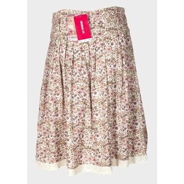 Women's A-Line Floral Midi Skirt