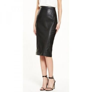 River Island Faux Leather Pencil Skirt