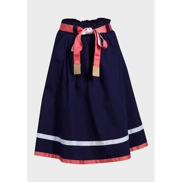 Viaggio Ladies Knee Length A-Line Skirt - Navy Blue