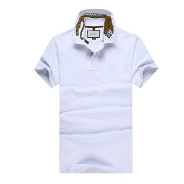 Cotton ,polo, with tiger embroidery-white