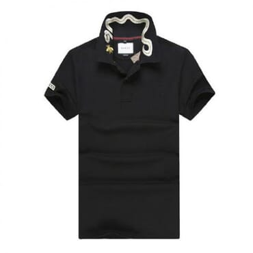 Cotton ,polo, with tiger embroidery-Black II1