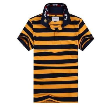 Cotton ,polo, with G-Line Yellow & Black