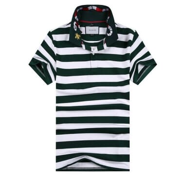 Cotton ,polo, with G-Line White & Black