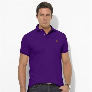 Cotton ,Polo Raulph Lauren Shirt,-Purple