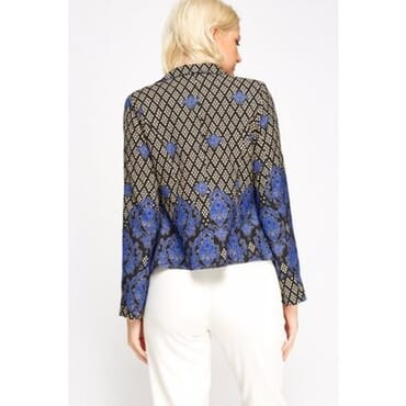 Mixed Print Blazer - Blue Multicolour