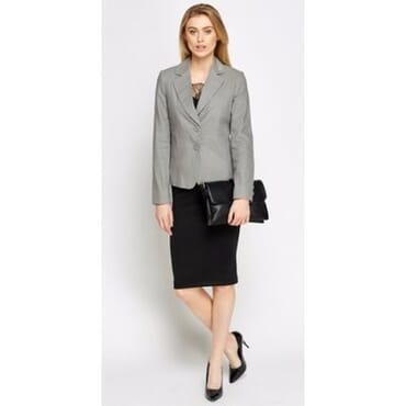 COLLECTION Twin Button Linen Blend Blazer - Grey
