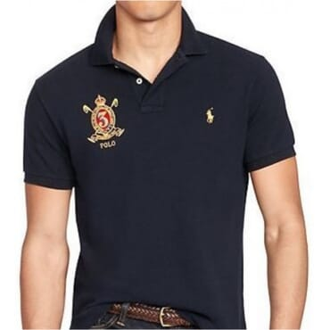 Black Custom-Fit Mesh,Polo Shirt,