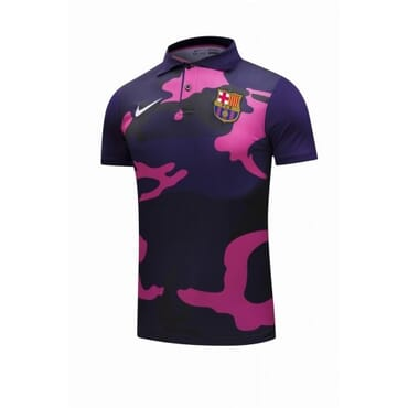 BARCELONA 2017/2018 POLO,| NAVY BLUE & PINK