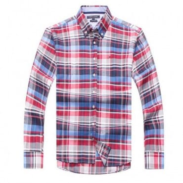 tommy Hilfiger Mens Cotton Shirts- Blue/pink