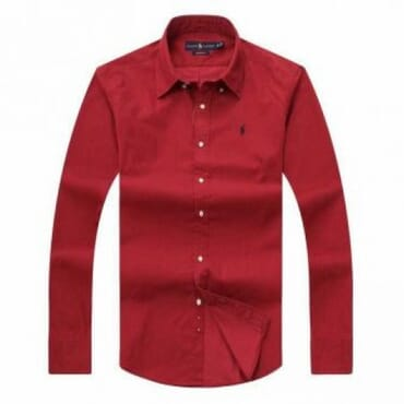 Plain Reddish Brown ,Polo By Raulph Lauren, Shirt with Small Pony