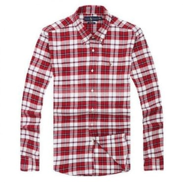 Ralph Lauren Checkered-Red & White,Longsleeve Shirt,