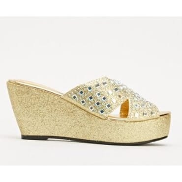 Sergio Encrusted Wedge Sandals