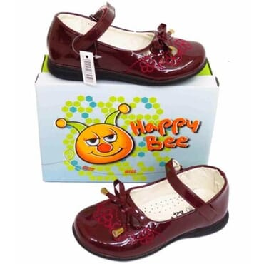 Girls' Slip-On Patent Pumps - Burgundy