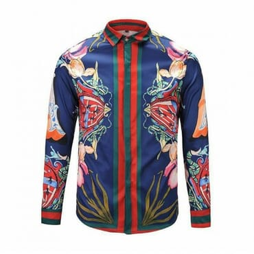 Mens Floral Design GG,Shirt