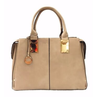 Max Ladies Big Classic Handbag - Beige