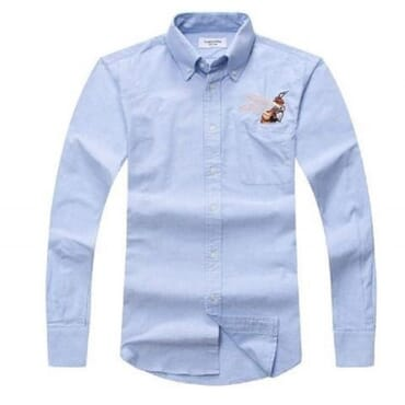 LONG SLEEVE SHIRT WITH Butterfly Crest,Mens Shirts