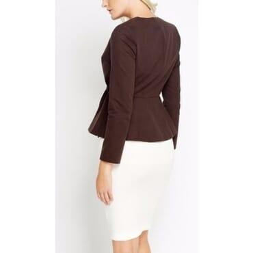 Peplum Formal Wrap Jacket