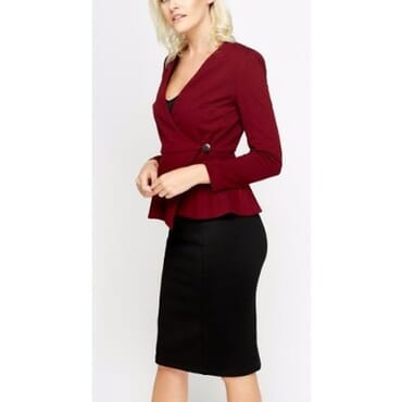 Peplum Formal Wrap Jacket