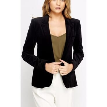 Cord Button Front Blazer