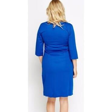 Mays Mono Check Contrast Midi Dress