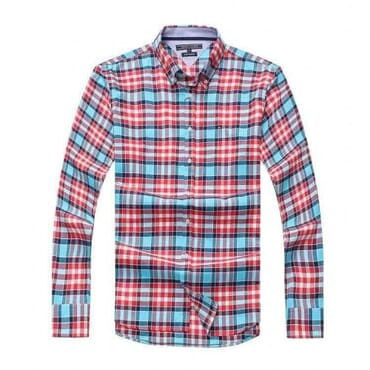 Cotton,Tommy hilfiger,Shirts-Blue