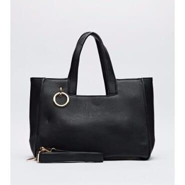 Embellished Faux Leather Bag