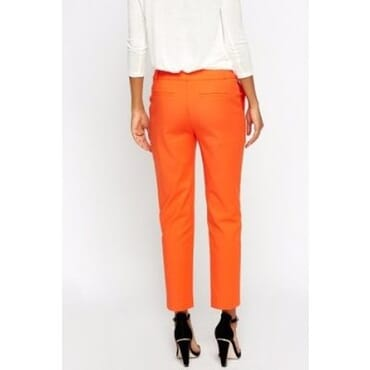 Straight Cut Trousers - Orange