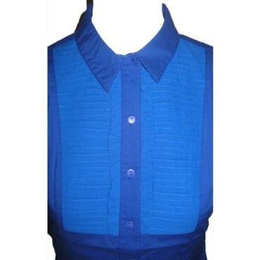 Chiffon Pleated Cotton Front Shirt