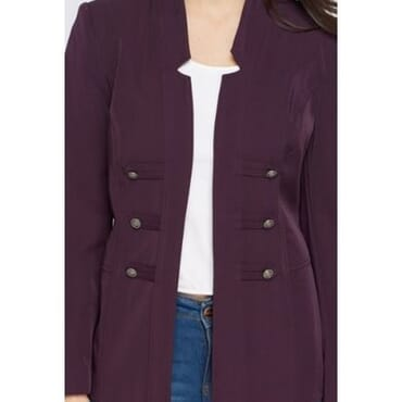 Julipa Dateless Open Front Jacket - Purple