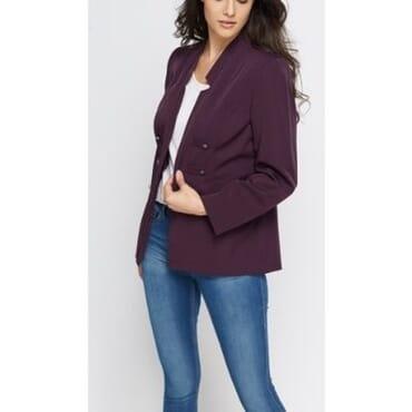 Julipa Dateless Open Front Jacket - Purple
