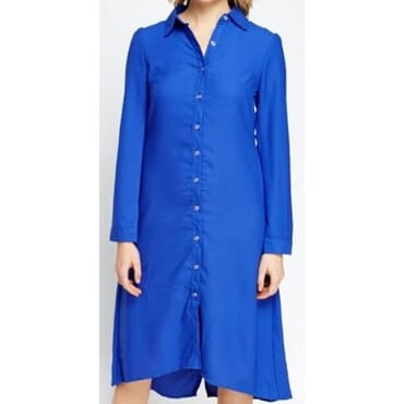 Collection London Long Asymmetric Shirt Dress - Blue