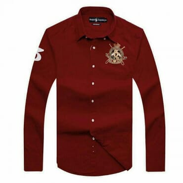 Cotton ,Polo By Raulph Shirts,-Mud Red
