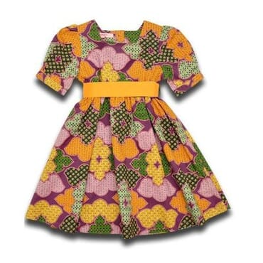 American Cotton Girls Dress - Multicolour